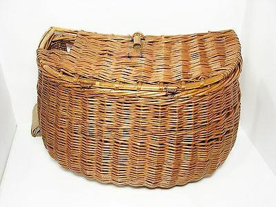Vintage Antique Trout Fly Fishing Basket Weave Trout Creel