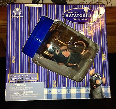 """NWT DISNEY RATATOUILLE REMY IN A JAR """"RUNNING REMY"""" SUPER COOL TOY! * last one*"""