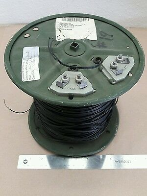 ( 1 Reel ) WD1A-.5 Kilometer Black Field Telephone Wire 6145-01-155-4258