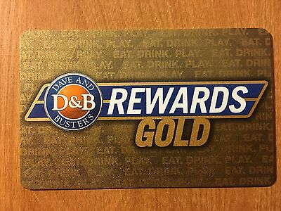 Dave and & Busters VINTAGE Gold Card Power Card RETRO