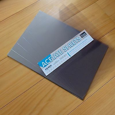 COUTURE CREATIONS A4 ACETATE x 5 SHEETS FOR SHAKER CARDS WINDOW BOXES - NEW
