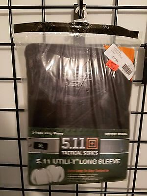 40046 L/S Utili-T 5.11 Tactical NAVY BLUE, 2-pack XL NWT
