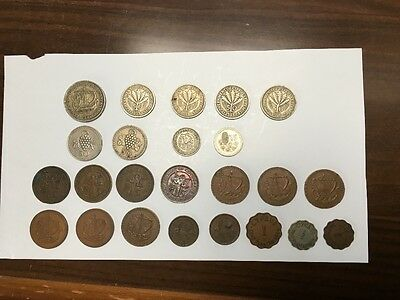 CYPRUS: 24 old coins 1934 to 1973.