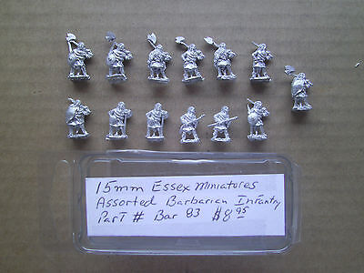 15mm Essex Miniatures Assorted Barbarian Infantry