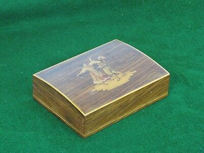 Antique Rosewood Dubble Playing Cards / Games Box Wooden
