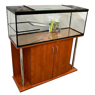 "Turtle/Terrapin tank with ramp ,platform ,hood 48""x18"" plus Pear Base Cabinet"