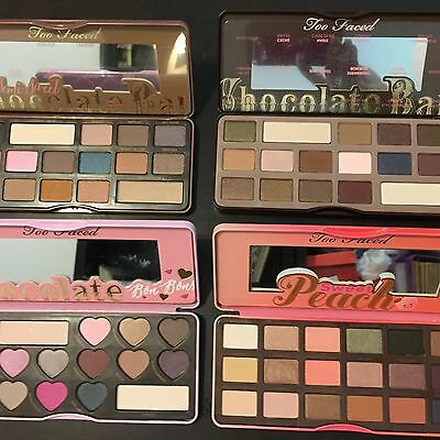 4 x AMAZING EYESHADOW CHOCOLATE and PEACH  SCENTED 16 COLOURS IN PALETTE
