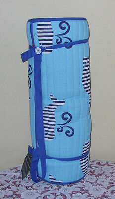 """Tommy Hilfiger Roll-Up Beach Mat With Pillow  Shoulder Strap. Size 24"""" X 66"""" NWT"""