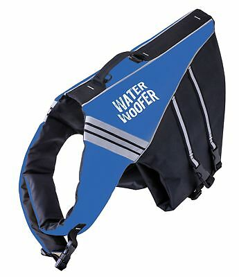 Water Woofer Dog Life Jacket - Blue and Black Dog Floatation Device-DFD Small