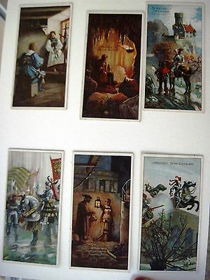 "Six Vintage German Advertising Cards by ""B.Sprengel & Co. for Chocolate (C) *"