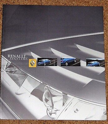 2002 RENAULT AVANTIME Sales Brochure - Brand New Old Stock Mint Condition!!
