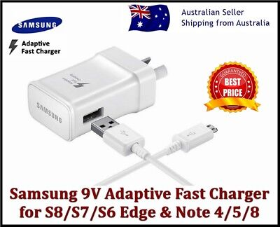 New Samsung Galaxy Adaptive Fast Wall Charger S6 S7 S8 S9 S10+ NOTE 4 5 8 9