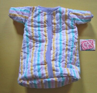 Original Cabbage Patch Kid Preemie Baby Bunting Bag Dated 1989