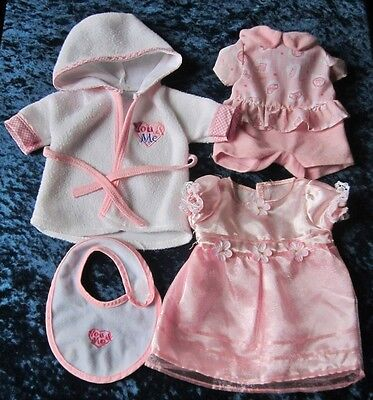 """Collection of You and Me Baby Doll Clothes for 12"""" Baby Doll"""