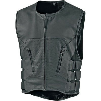 Icon Mens Stripped Regulator D30 Motorcycle Riding Vest - Choose Size