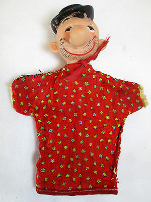 Vintage 1950's Popeye's Wimpy character hand puppet Gund?