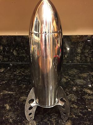 Rocket Ship Cocktail Shaker Retro Collectible