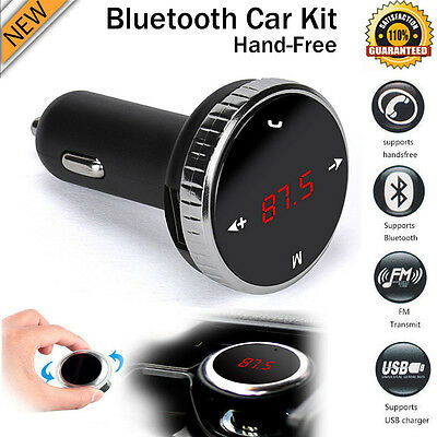 Wireless LCD FM Transmitter Modulator Bluetooth Car Kit MP3 Player SD + Remote