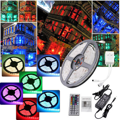 5M 10M 15M 20M 5050 3528 SMD RGB LED Strip Music Light Kit Flexible Waterproof