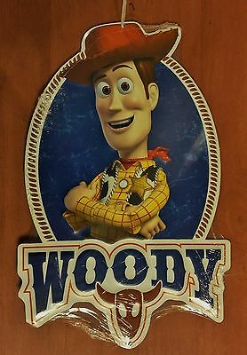 """NWT Embossed Metal Sign - Toy Story's Woody - 12"""" Tall x 7.88"""" Wide"""