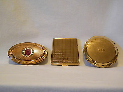 Vintage Stratton and Melissa Powder Compact Collection – Set of 3