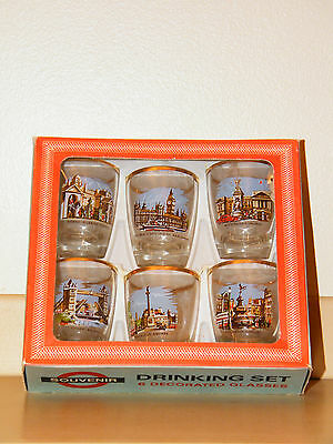 Vintage London Scenes Shot Glasses – Box Set of 6