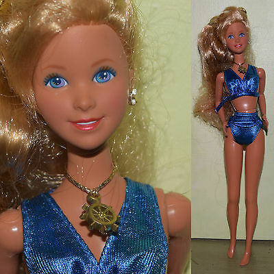 "1991 Mattel Barbie 11.5"" SUN SENSATION JAZZIE Beach Bikini Doll for OOAK"