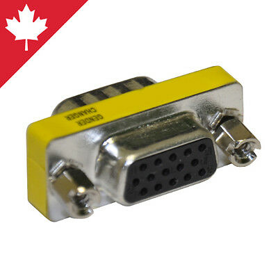 SVGA VGA Video Coupler Cable Joiner Female Extender Connector Adapter 15 Pin