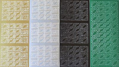 FLEUR DE LYS Corner PEEL OFF STICKERS 2 Sizes Corners Delicate 7 Colours
