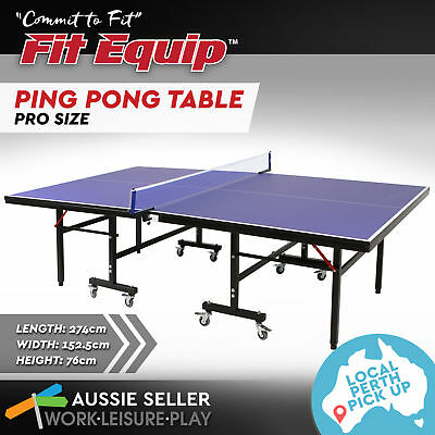 Pro Table Tennis Ping Pong Table 19MM Top Foldable ITTF APPROVED PERTH PICK UP