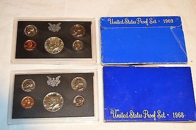 1968-S & 1969-S  Proof Sets - FAST FREE SHIPPING!!!