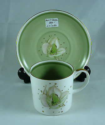 Fabulous Vintage Susie Cooper Demi-Tasse Coffee Cup & Saucer C 1950's