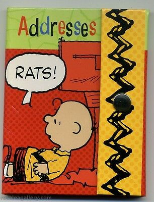 Hallmark Peanuts Charlie Brown Address Book-Rats-Unused