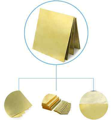 H62 Yellow Copper Foil/Sheet Brass Metal Plate Metalworking 2.0mm*600mm*100mm