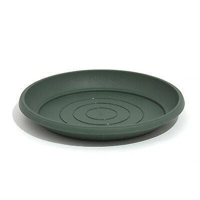 Universal green flower pot plastic saucer Terra, 5 sizes available