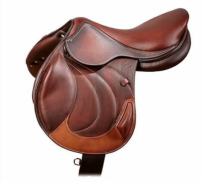 New Jump Close Contact Leather Saddle With Tack Set 16 17 18