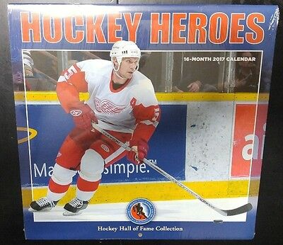 Hockey Heroes 2017 Calendar Hockey Hall of Fame Collection