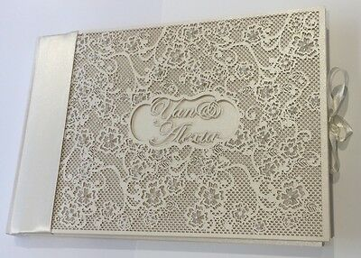 A5 Laser Cut Wedding Guest Book Personalised