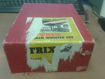 TRIX No.274 TRAIN WHISTLE SET - BOX ONLY - FAIR CONDTION(SEE PICS)