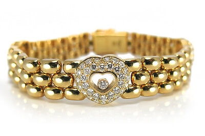 Chopard Armband Happy Diamonds mit 3 Herzen 750 Gelbgold [BRORS 11674]