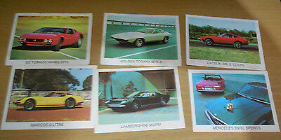 vintage the super cars weetbix cards Man cave automobilia collectable