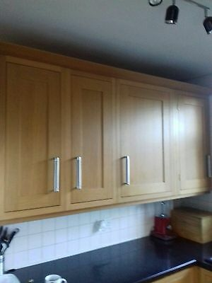 Solid Wood (Oak In Color) Fitted Kitchen Units