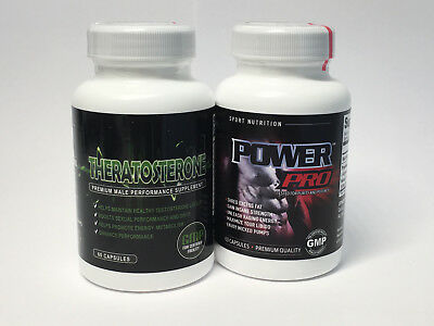 Power Pro & Theratosterone Gain Muscle, Shred Fat & Testosterone Supplement