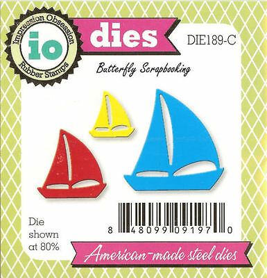 Small Sailboats American made Steel Dies by Impression Obsession DIE189-C