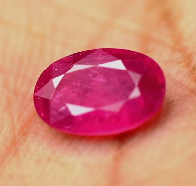0. 75 cts natural  ruby 100% mozambique  untreated  apgtl  certified