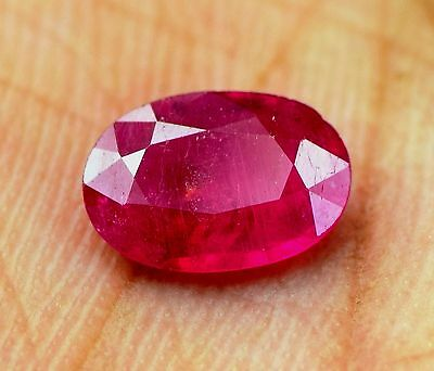 0. 72 cts natural  ruby 100% mozambique  untreated  apgtl  certified