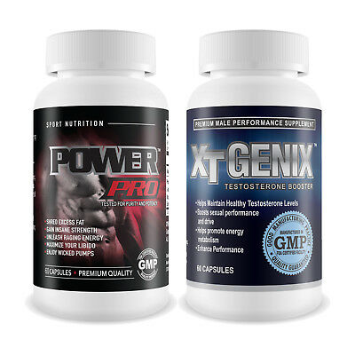 Power Pro & XT Genix - Gain Muscle, Shred Fat & Testosterone Booster Supplements
