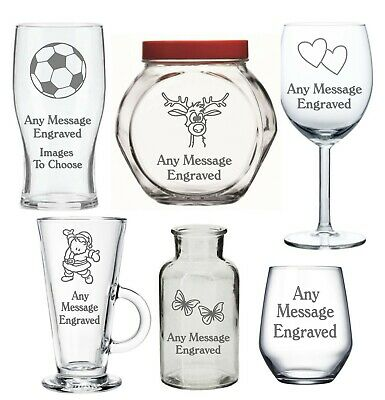 Personalised Glass Birthday Gifts Uncle Auntie Sister Brother Men Women Daddy