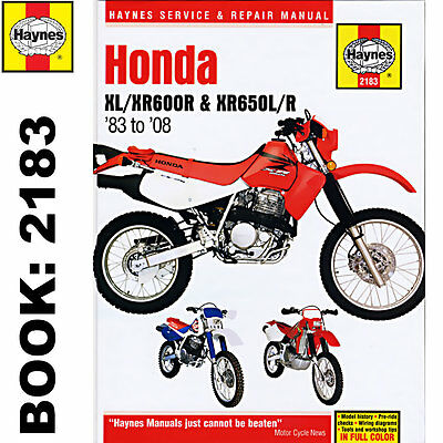Honda XL600R XR600R XR650L XR650R 1983-2014 Haynes Workshop Manual