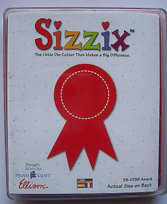 Sizzix Originals Large / Red AWARD 38-0139 Education, Honours 1 RARE Die in VGC*